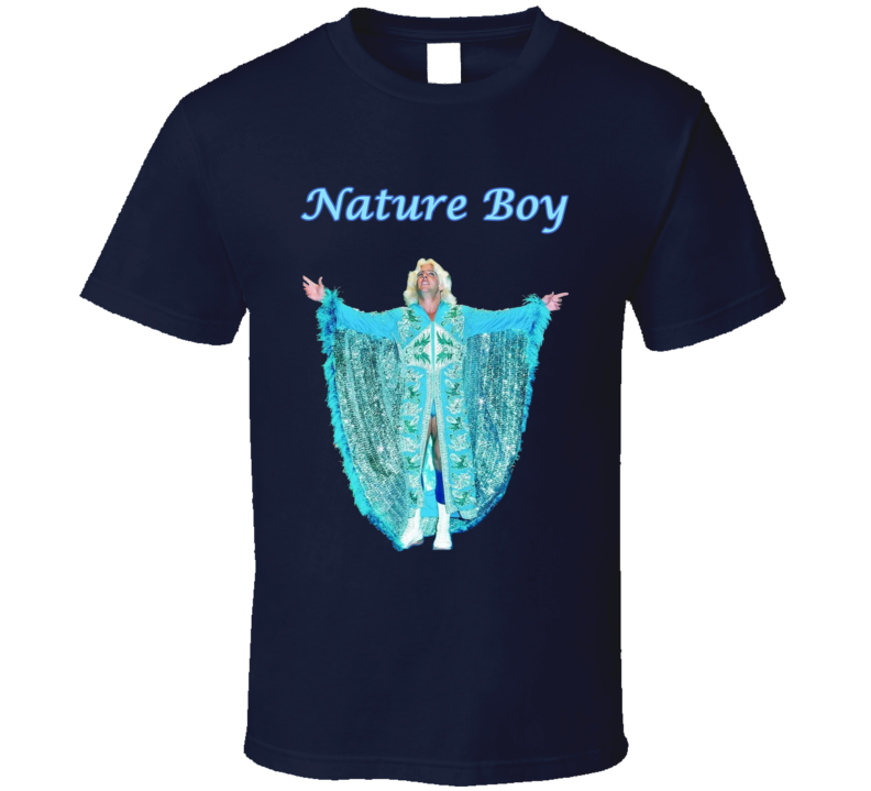 Ric Flair Nature Boy Wrestling Dark Blue Fan Tshirt