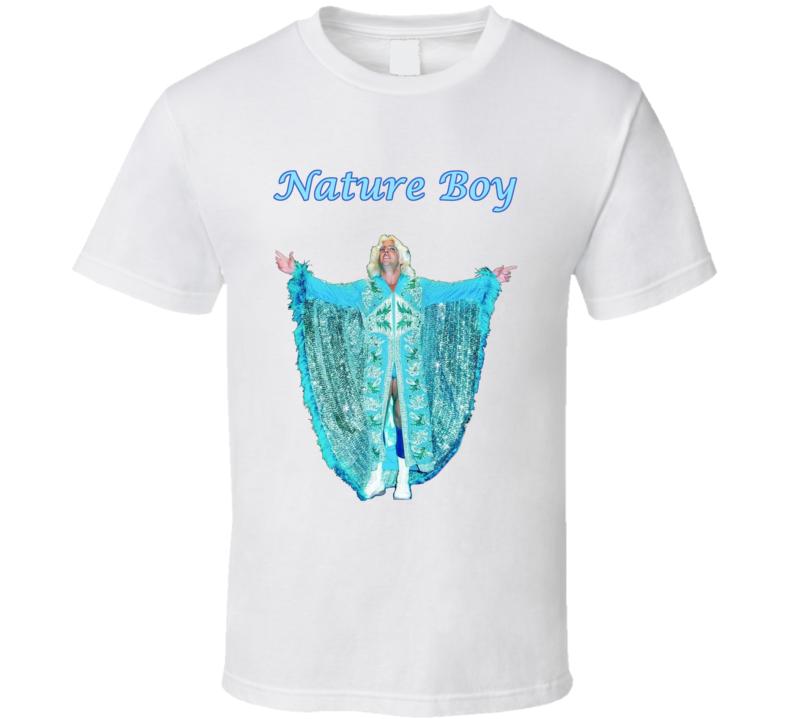 Ric Flair Nature Boy Wrestling White Fan Tshirt