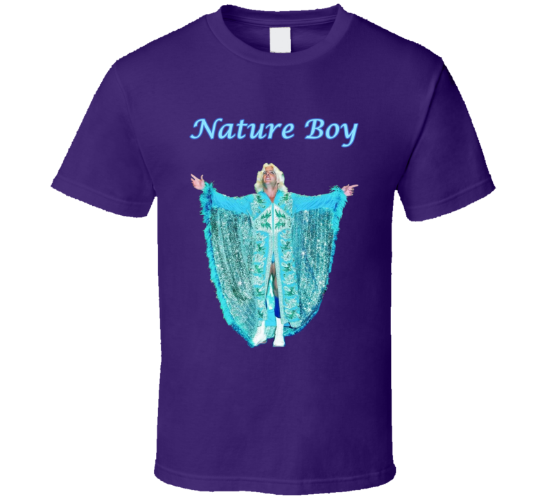 Ric Flair Nature Boy Wrestling Purple Fan Tshirt