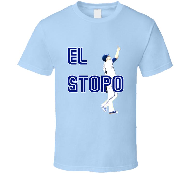 Roberto Osuna Toronto Baseball El Stopo Light Blue Tshirt