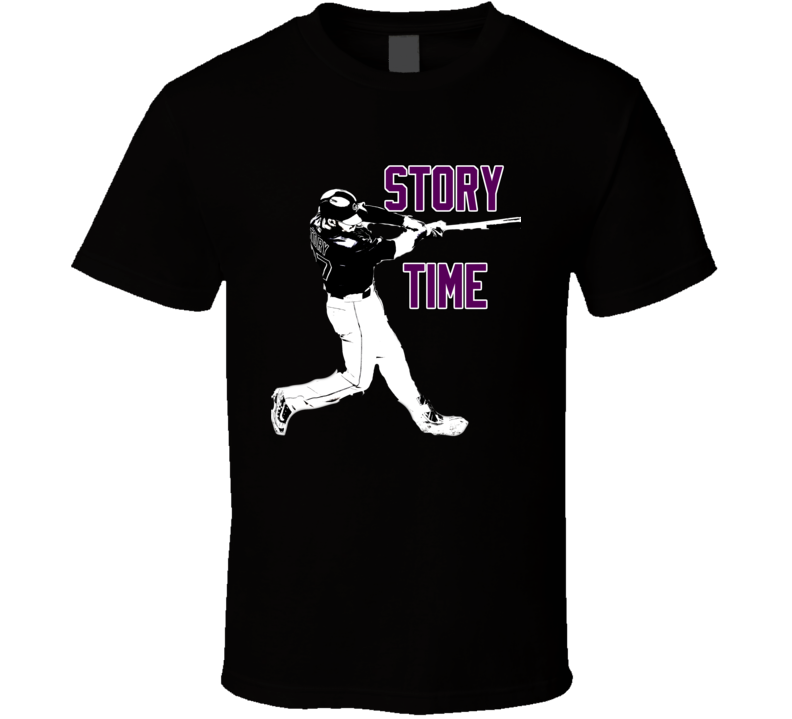 Trevor Story Colorado Baseball Story Time Fan Black Tshirt