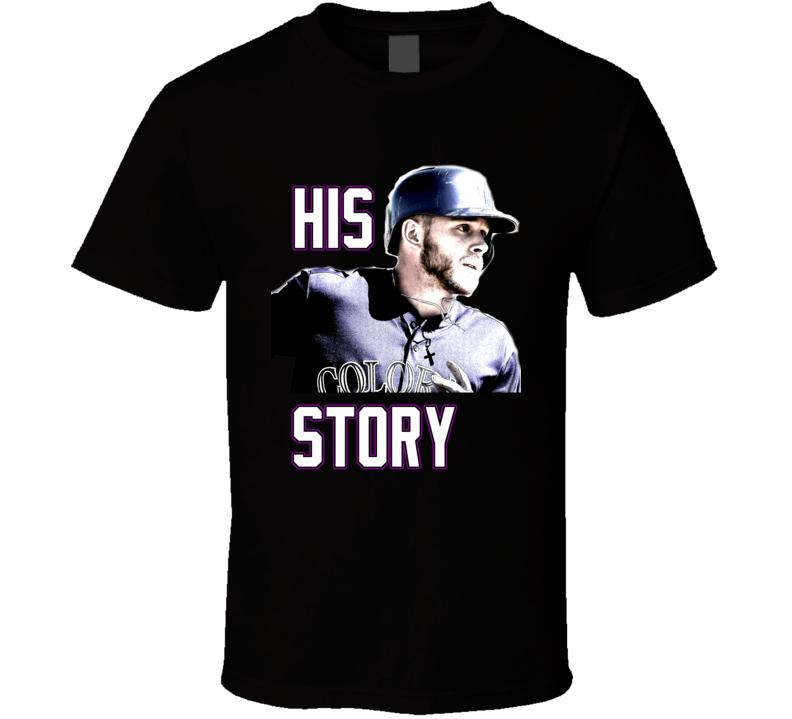 Trevor Story Colorado Baseball History Fan Tshirt