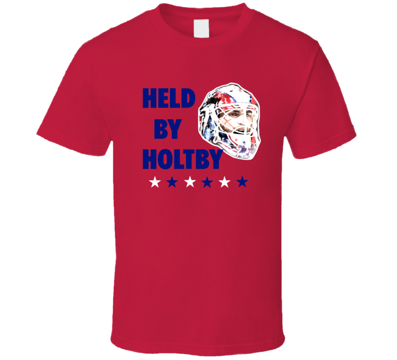 Held By Holtby Washington Hockey Braden Holty Mask Fan Tshirt