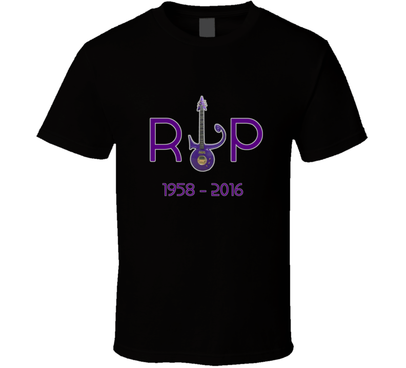 Prince Inspired RIP Memorial Fan Tshirt