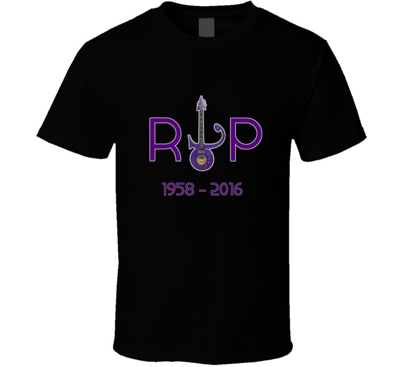 Prince Inspired RIP Memorial Fan Tshirt