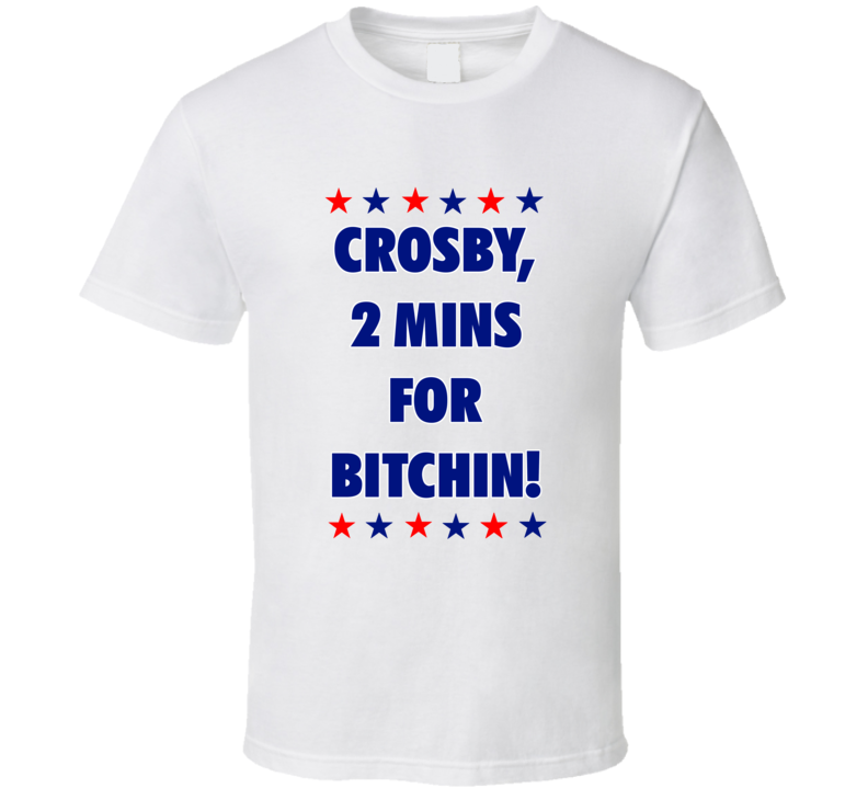 Sidney Crosby Inspired 2 Minutes For Bitchin Washington Hockey Fan White Tshirt