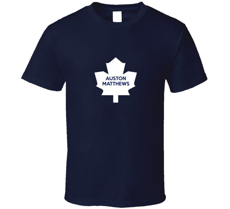Auston Matthews Toronto Hockey Draft Fan Navy Tshirt