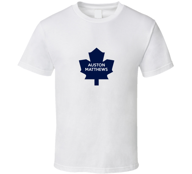 Auston Matthews Toronto Hockey Draft White Fan Tshirt