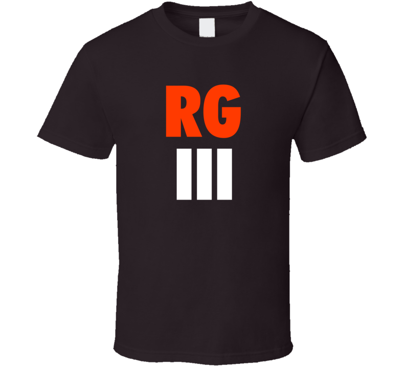 Robert Griffin III Cleveland Football Dark Brown Fan Tshirt