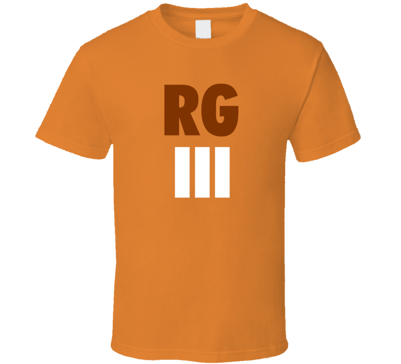 Robert Griffin III Cleveland Football Orange Fan Tshirt