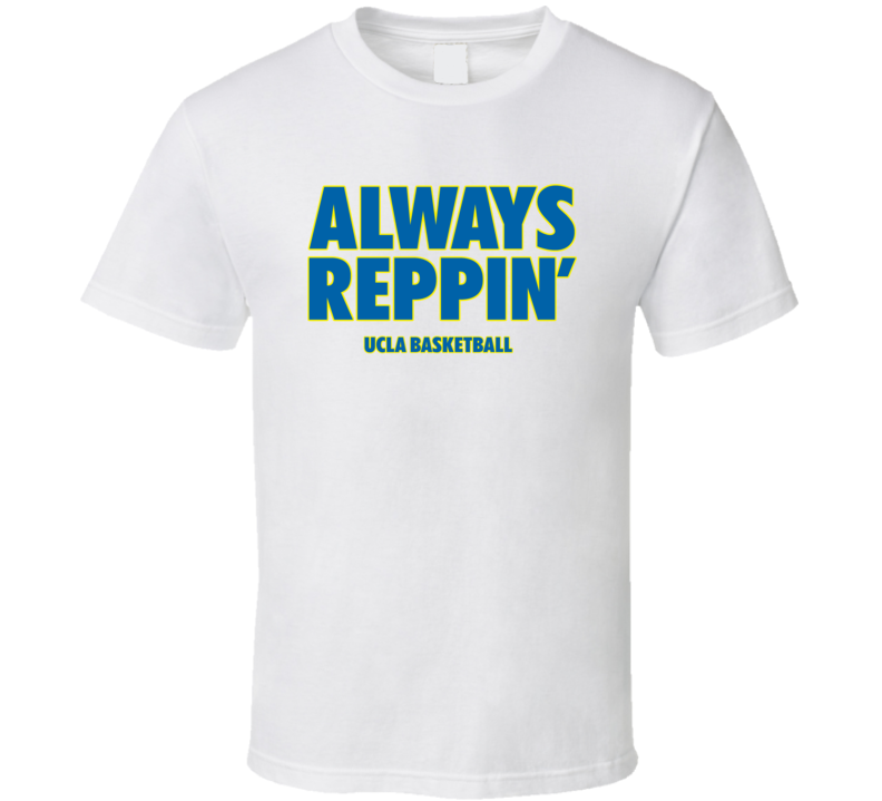 UCLA College Basketball Always Reppin Bench White Tshirt