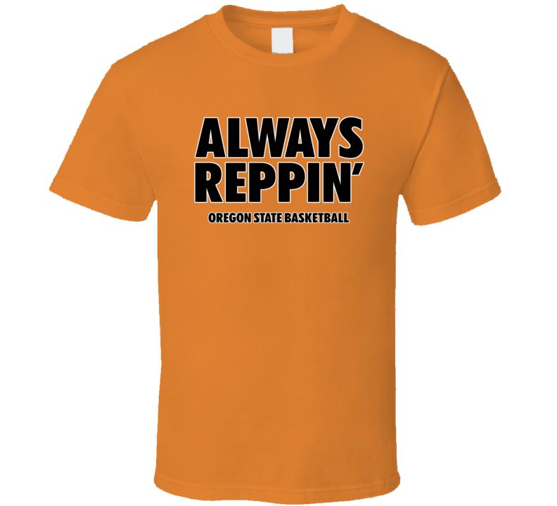 Oregon State Basketball Always Reppin Bench Orange Tshirt