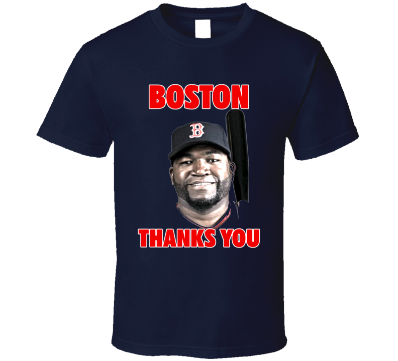 Big Papi David Ortiz Inspired Boston Baseball Thanks You Fan Tshirt