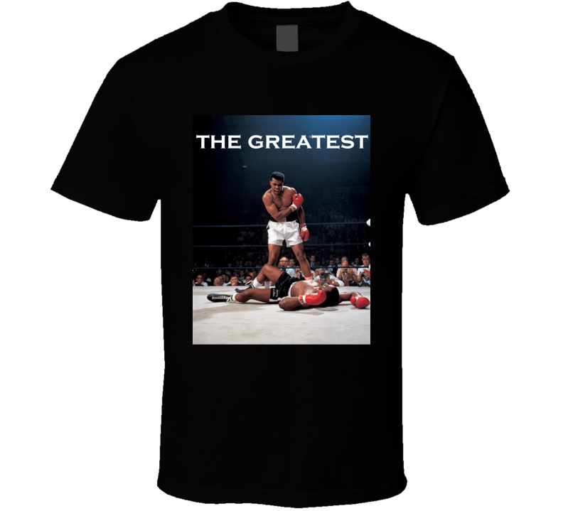 Mohamed Ali Inspired The Greatest Fan Tshirt Black