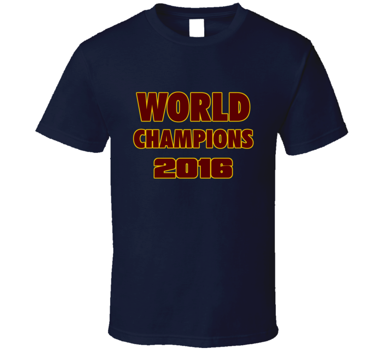 Cleveland Basketball 2016 World Champions Fan Tshirt