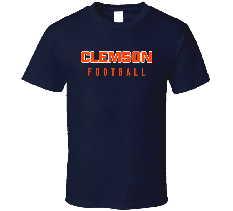 Clemson College Football Fan Navy Tshirt