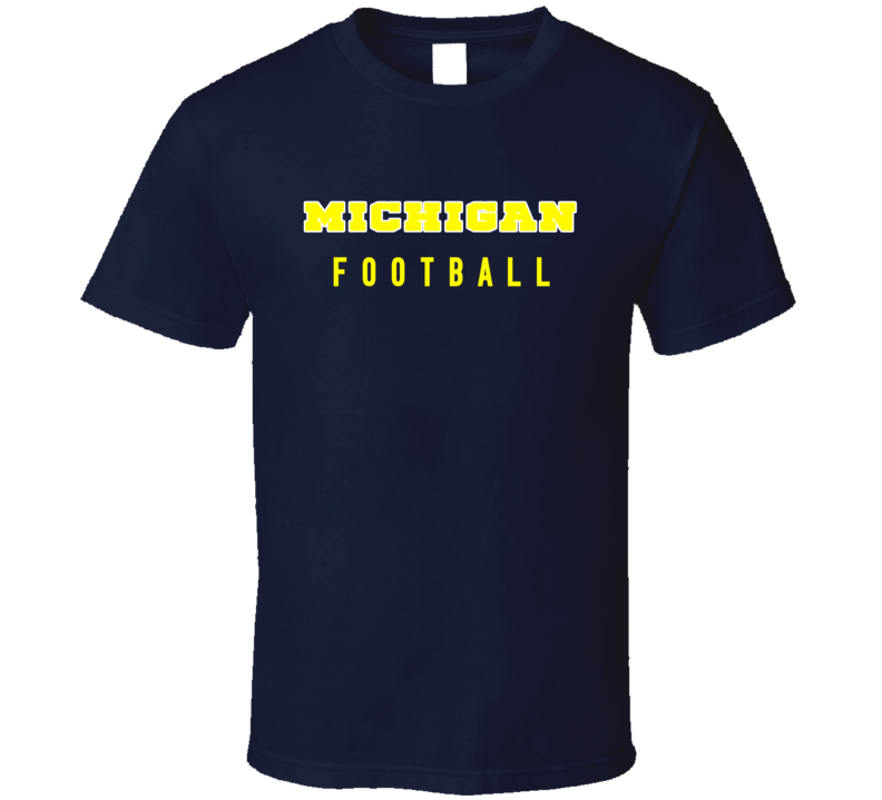 Michigan College Football Fan Tshirt