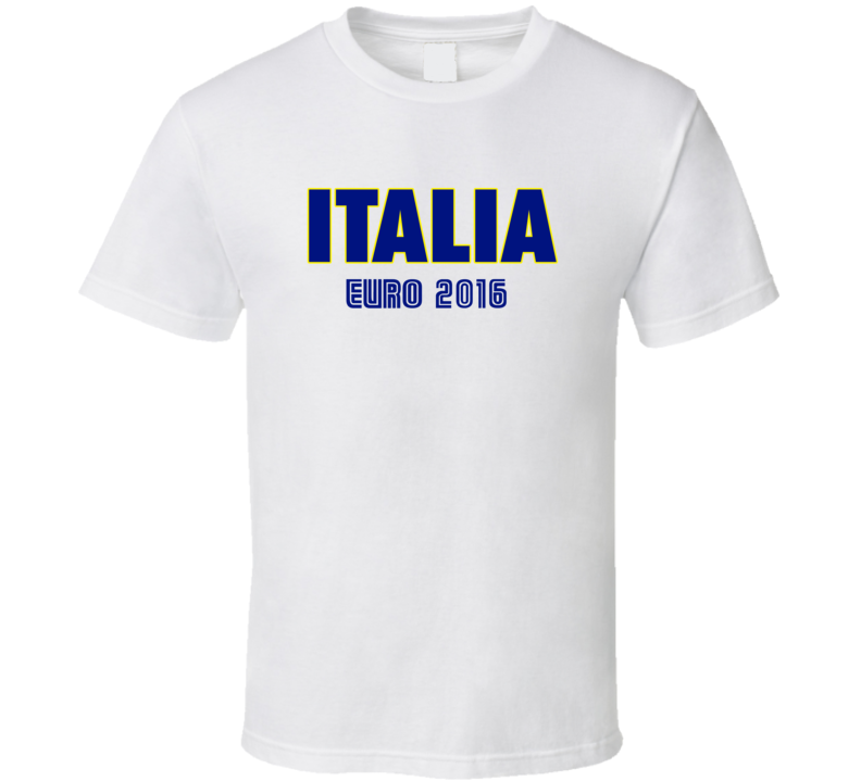 Italia Euro 2016 Football Soccer Fan Tshirt