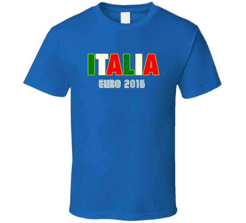 Italia Euro 2016 Football Soccer Fan Tshirt
