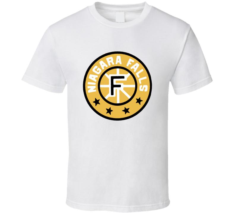 Niagara Falls Flyers Retro Hockey Fan White Tshirt