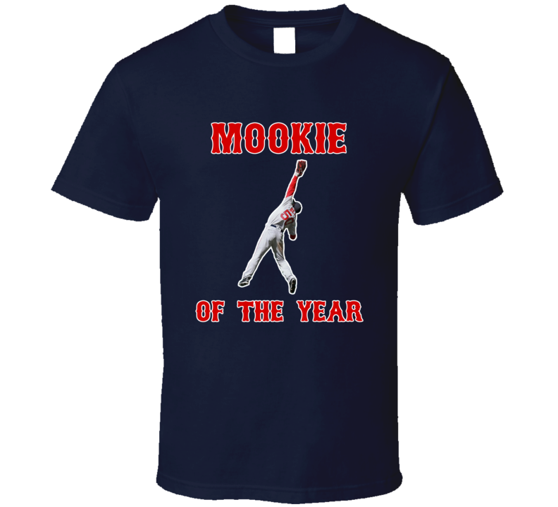Boston Baseball Mookie Betts Inspired Mookie Of The Year Fan Tshirt