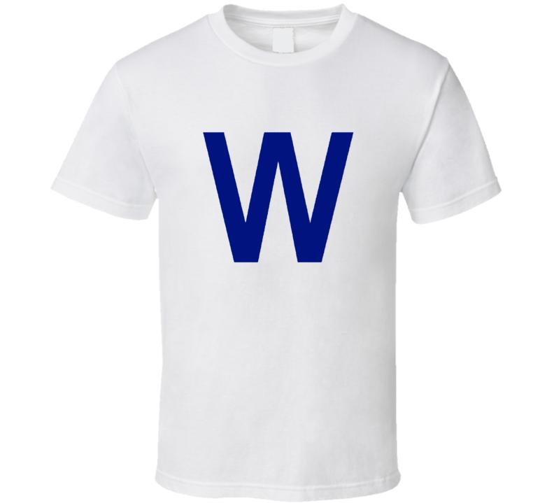 Chicago Cubs Win Baseball Inspired Win Flag Fan Tshirt