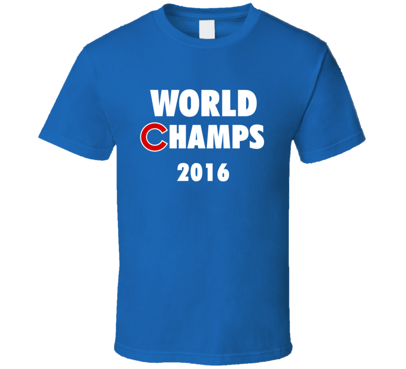 Chicago Cubs Inspired World Champs 2016 Fan Tshirt
