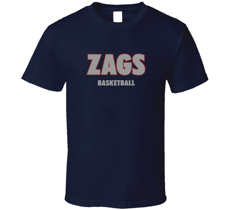 Gonzaga College Basketball Inspired Zags Fan Tshirt