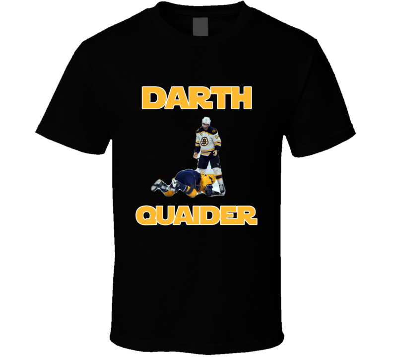 Boston Hockey Adam McQuaid Inspired Darth Quaider Fan Tshirt
