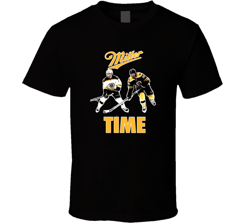 Boston Hockey Colin Kevan Miller Time Fan Tshirt