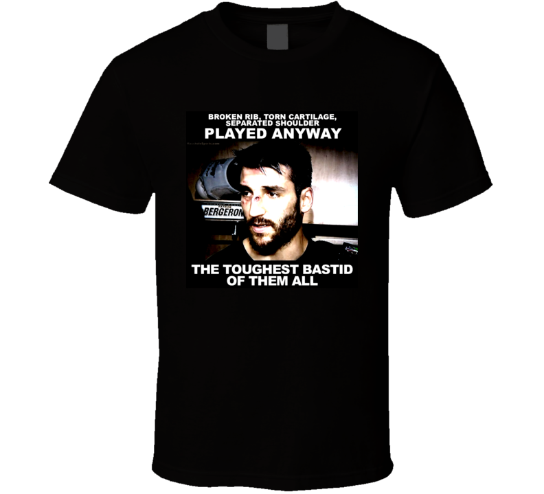 Patrice Bergeron Inspired Boston Hockey Fan Tshirt