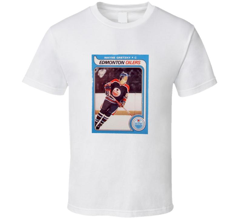 Wayne Gretzky Inspired Edmonton Hockey Rookie Card Fan Tshirt