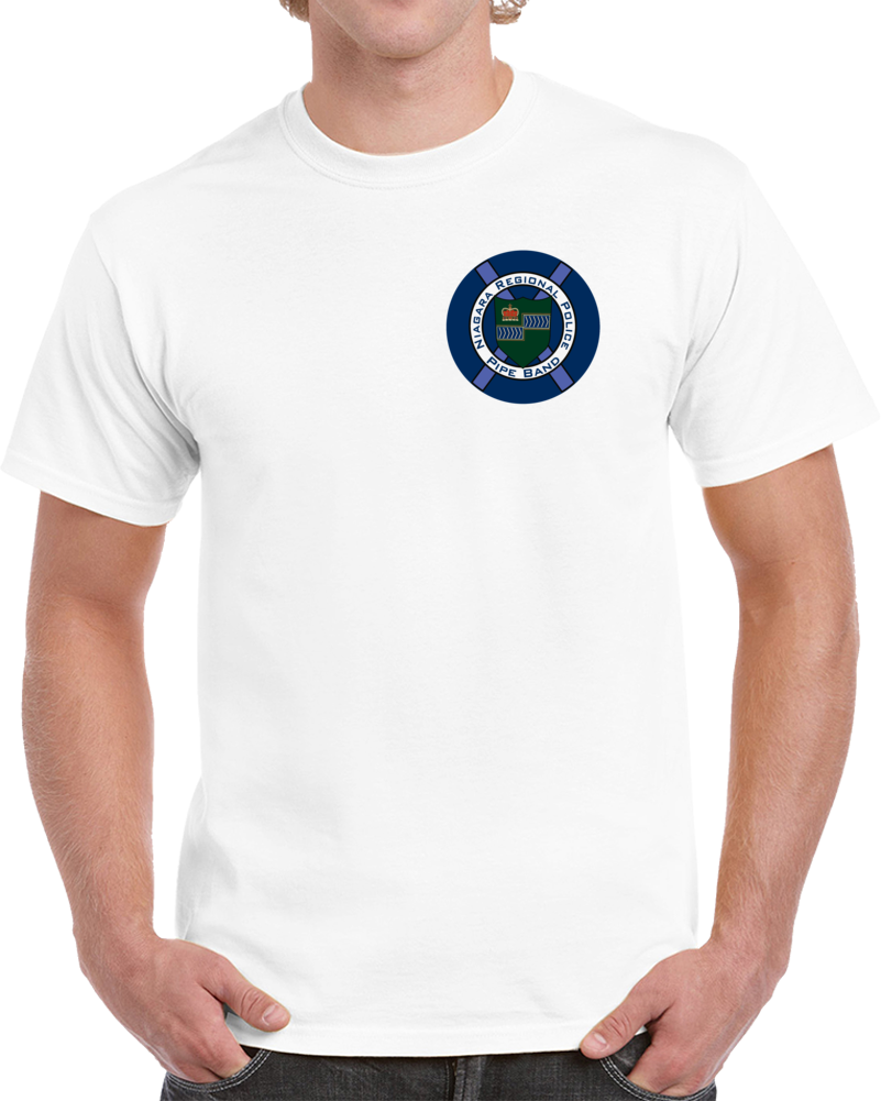 Niagara Pipe Band T Shirt small logo