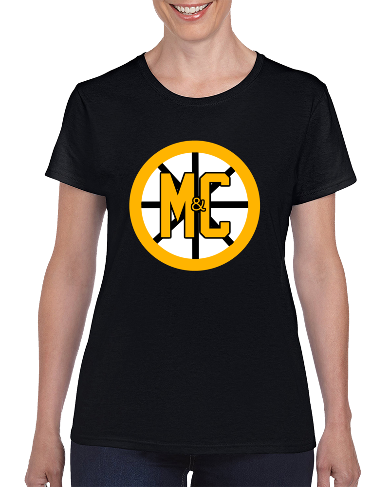 Spoked M & C Front Ladies T Shirt