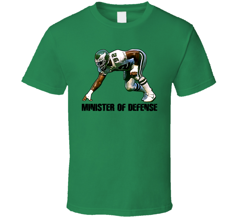 Minister Of Defense Reggie White Eagles T Shirt