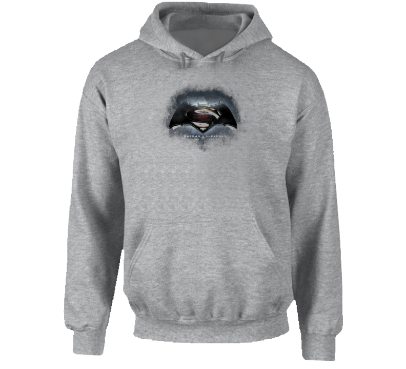 Batman V Superman Dawn of Justice Movie Trailer Logo Poster Hoodie