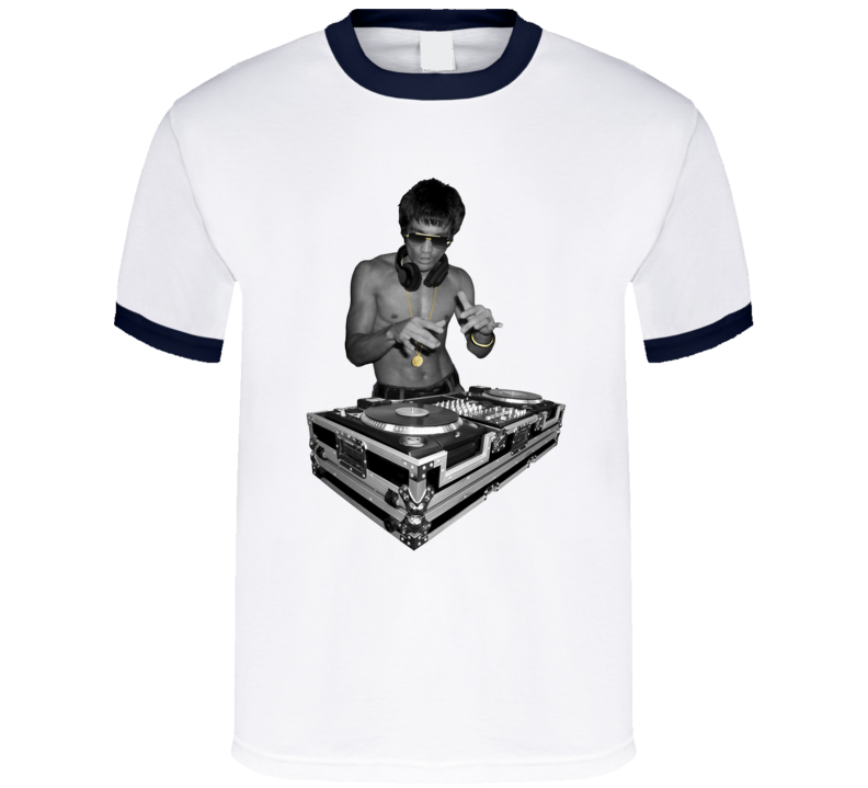 Bruce Lee DJing Avengers Age Ultron Robert Downey Jr Iron Man T Shirt
