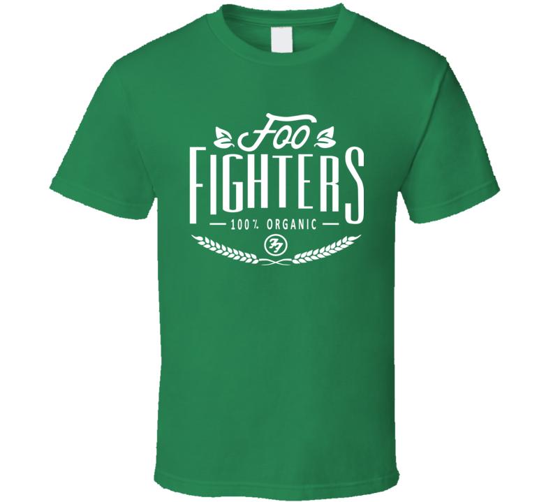 Foo Fighters Band Fan Classic 100% Organic Summer Festival T Shirt