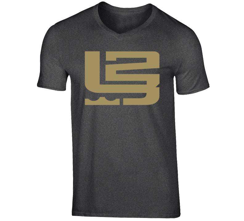 King LeBron James 23 MVP Cleveland Basketball Fan Logo V-Neck T Shirt