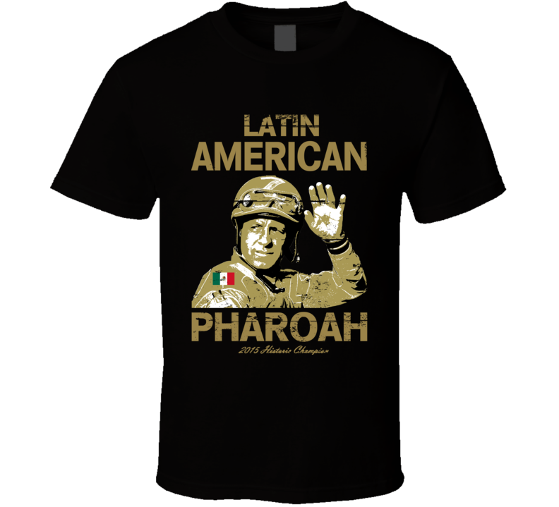 Latin American Pharoah Mexican Triple Crown Jockey Worn Look T Shirt
