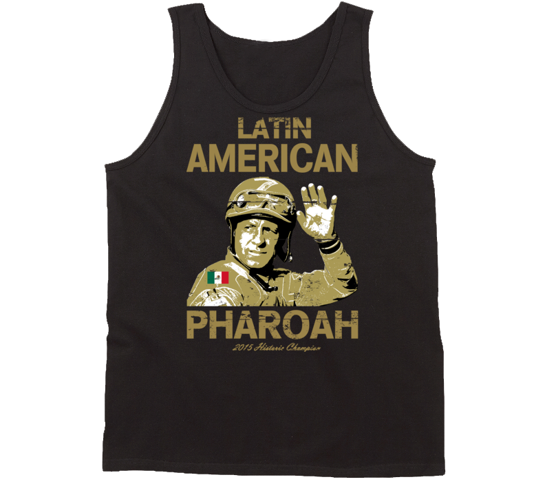 Latin American Pharoah Espinoza Triple Crown Jockey Worn Look Tanktop