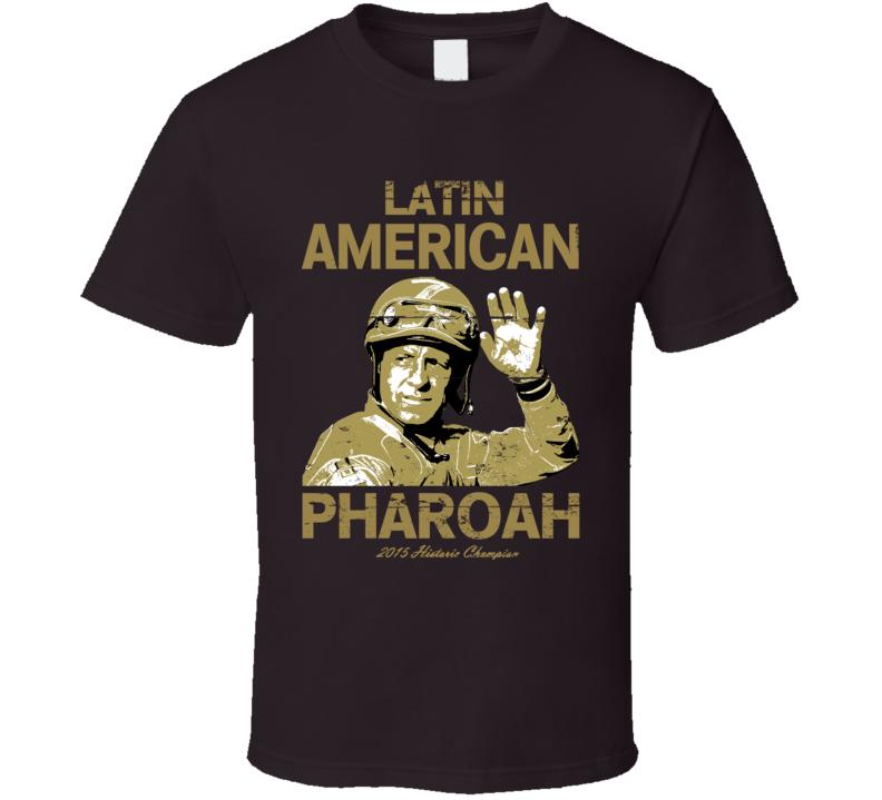 Latin American Pharoah Espinoza Triple Crown Jockey Worn Look T Shirt