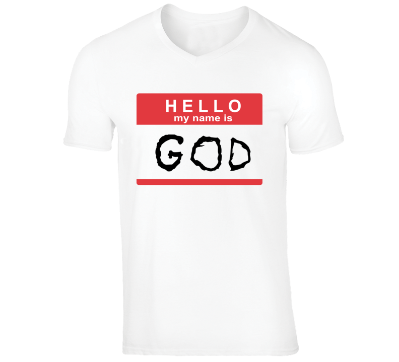 Hello My Name Is God Ugly Boy Funny Die Antwoord Music Video V-Neck