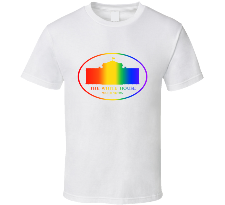 US White House Supports Equal Rights Same Sex Rainbow Logo T Shirt