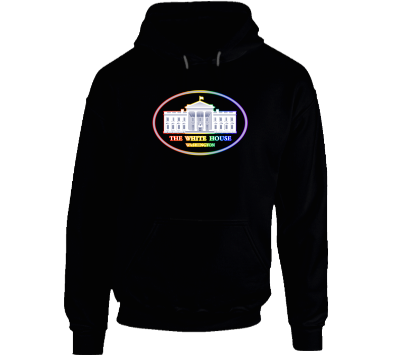 US White House Supports Equal Rights Same Sex Rainbow Logo Hoodie