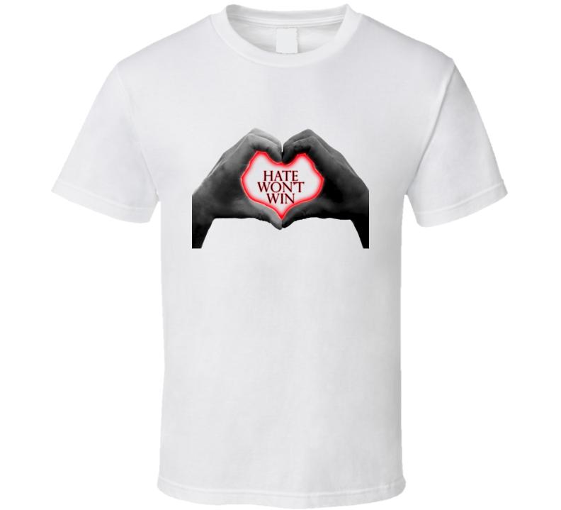Hate Won't Win Charleston Shooting Victim Unity Inspirational T Shirt