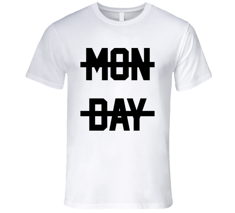 Monday Crossed Out Cool Swag Mens T Shirt Niall Horan 1Direction Worn