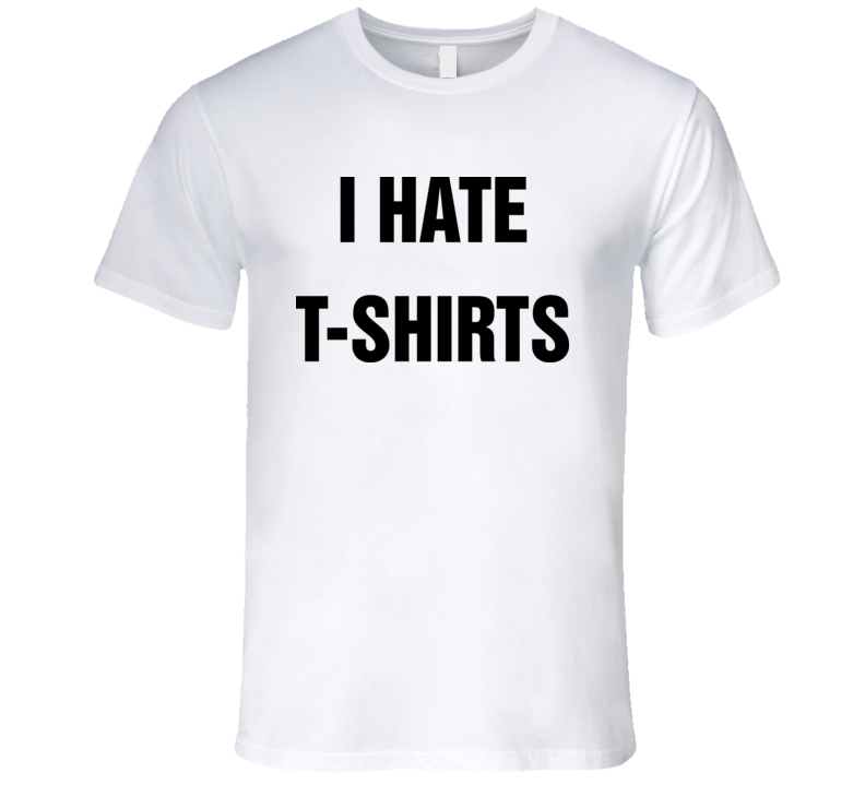 I Hate T Shirt Cool Mens Worn by Mythical Beast Celebrity Rhett & Link