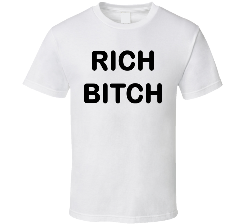 Rich Bitch Funny T Shirt Worn on the Simpsons TV Show Character Bart
