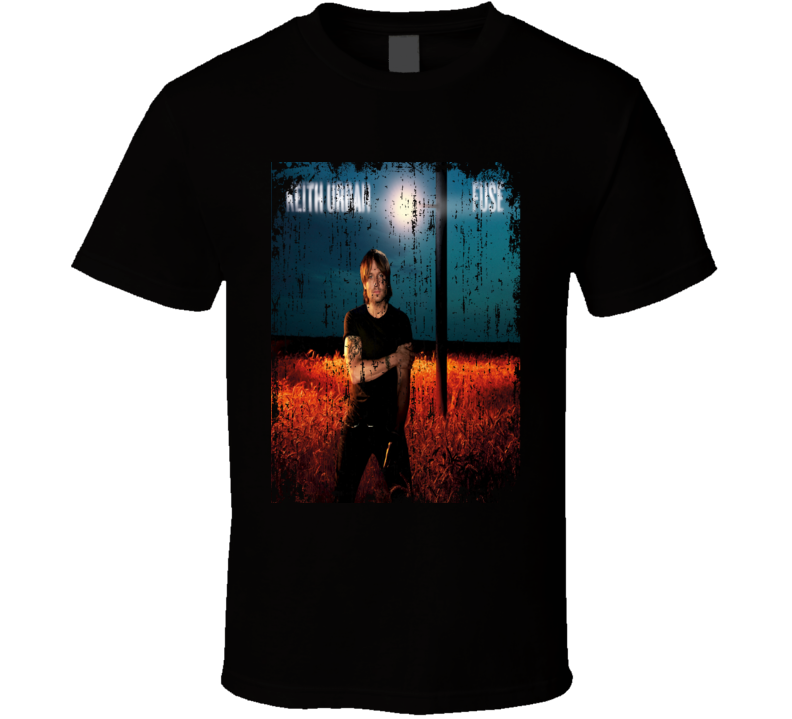 Keith Urban Fuse 2013 Country Album Worn Look Cover T Shirt